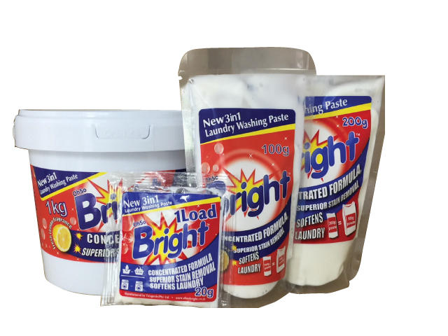 OhSoBright Laundry paste pack formats